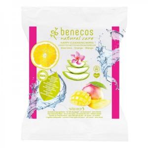 Lingettes Nettoyantes Visage - Aloe Vera/ Orange/ Mangue - Benecos