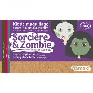 Kit de maquillage 3 Couleurs - Sorcière & Zombie - Namaki